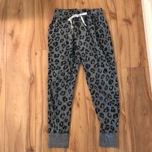 Grey/Black animal print jogger
